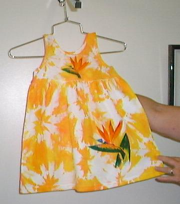 Tie-dyed empire sundress
