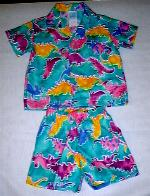 Dinosaur print Short set