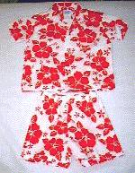 Mele Kalikimaka Short set in red